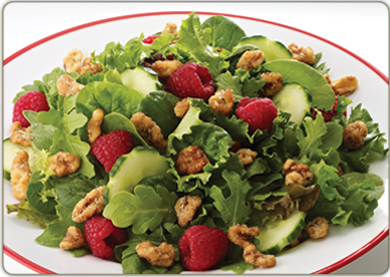 Frisse avocado met walnoten salade