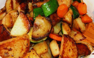 Aardappelschotel met varkenshaas