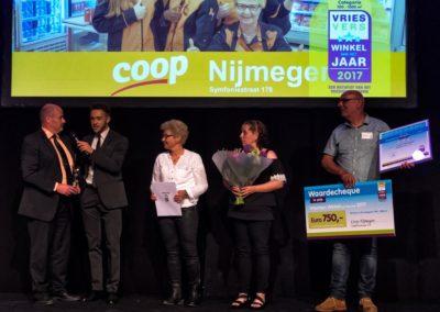 In de categorie 700 – 1000 m² streek Coop Nijmegen Symfoniestraat met de eer