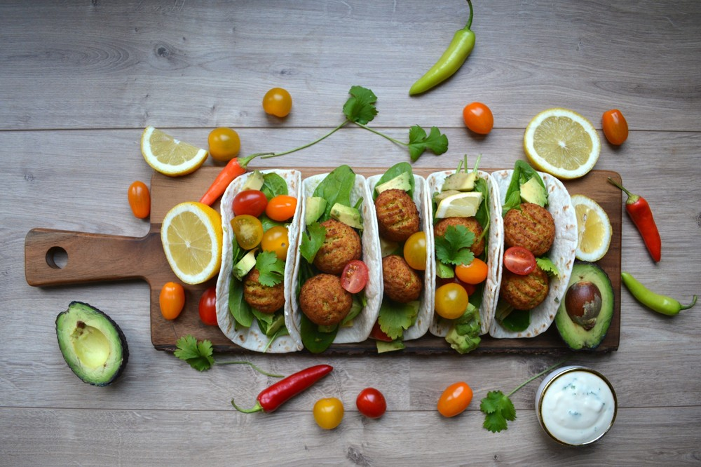 Vegetarische Falafel wraps