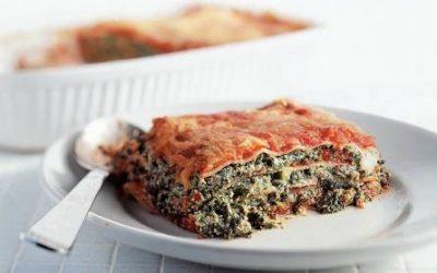 Lasagna met spinazie