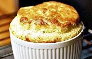 Soufflé met brocolli en kaas