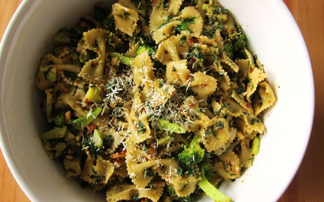Ovenpasta met broccoli en bloemkool