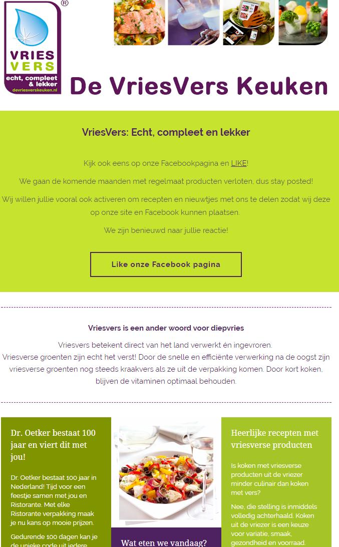 VriesVers Keuken - Nieuwsbrief 3 - 11 oktober 2017