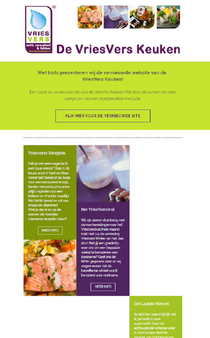 VriesVers Keuken - Nieuwsbrief 1 - 31 januari 2017